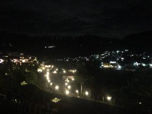 pemandangan malam dari The Onsen Resort